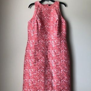 ANN TAYLOR FLORAL EMBROIDERED SLEEVELESS DRESS